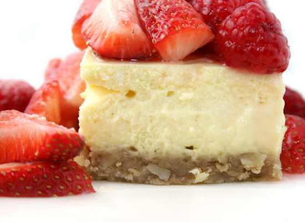 Nutty Cheesecake Squares Recipe