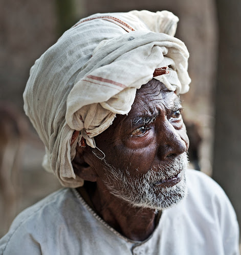 Portrait... by Kausik Das - People Portraits of Men ( canon, india, senior citizen, people, portrait, man )
