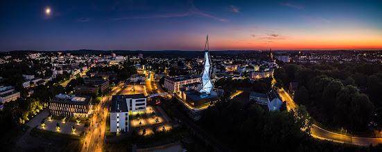 Photo: #Sommerabend in #Lüdenscheid  - #Summer evening in Luedenscheid in western #Germany  - #Stadtdeslichts #Märkischerkreis #Phänomenta #Cityoflights #aerial #aerialphotography #panorama #nightphotography #lights #Phantom3 #bluehour #Blauestunde #drone #copter #Drohne #Sunset #Sonnenuntergang