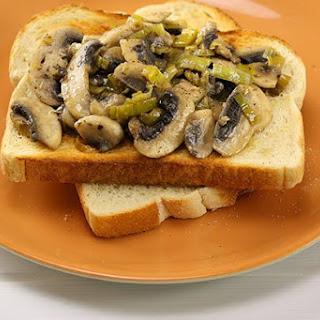 Sautéed Mushrooms on Toast