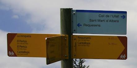 Photo: Senyalització al Coll Forcat