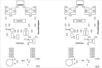 Photo: Silkscreen da placa de circuito impresso