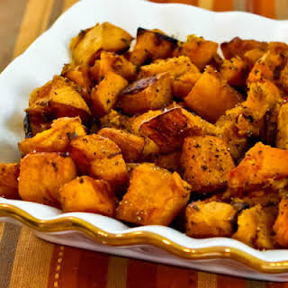 Roasted Butternut Squash with Rosemary and Balsamic Vinegar.