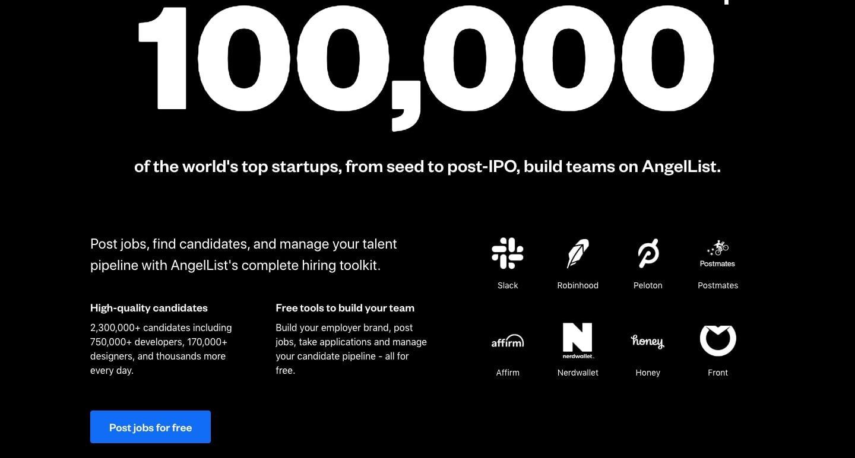 100,000 startups use angellist