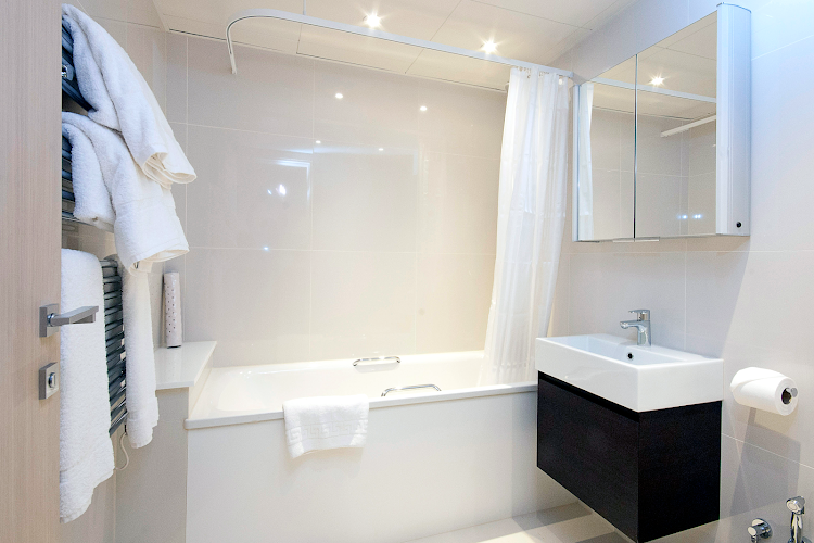 Bathroom at Belgravia apartment