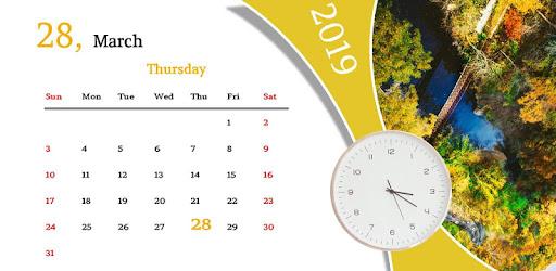 Calendar Live Wallpaper app works like your wallpaper app.