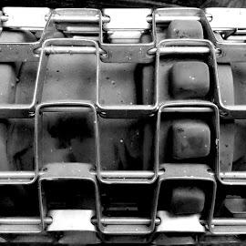 Metal by Ruxandra Proksch - Abstract Patterns ( abstract, pattern, black and white, metal, metallic )