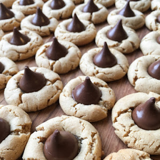 Peanut Butter Blossom Cookies Without Shortening Recipes.