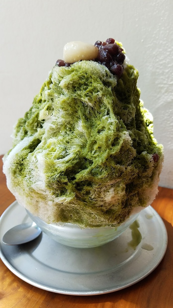 Ssshaved Ice, a pop up offering Japanese Shaved Ice Uji Matcha Milk Kintoki with Matcha Green Tea and Tofu Mochi with Adzuki Bean and Condensed Mil