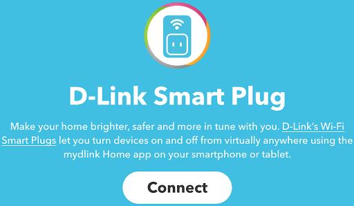 IFTTT et DLink programmateur interrupteur smartplug DSP-W215