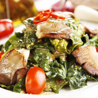 Spinach Salad with Hot Apple Dressing