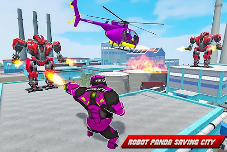 Panda Robot Helicopter Transform Battle Games for PC-Windows 7,8,10 and Mac apk screenshot 4