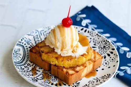 """Grilled Pineapple Pound Cake""""My sister cannot get enough of this. Anytime I..."""