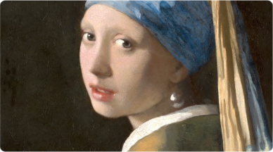 """Johannes Vermeer's """"Girl with a pearl earring"""" painting."""