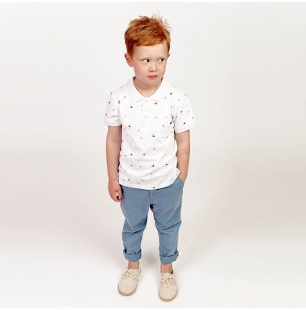 Harper - Printed polo shirt for children