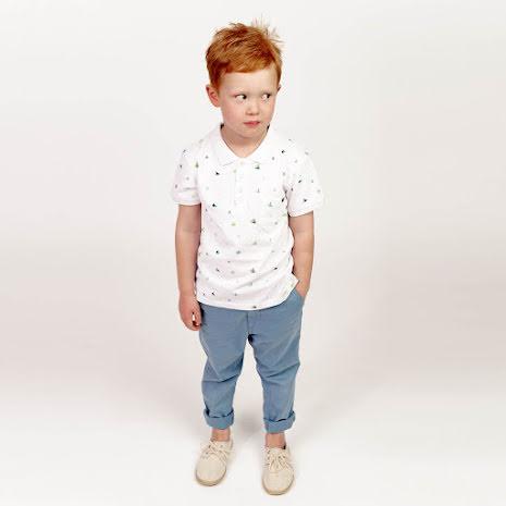 Harper - Printed polo shirt for children