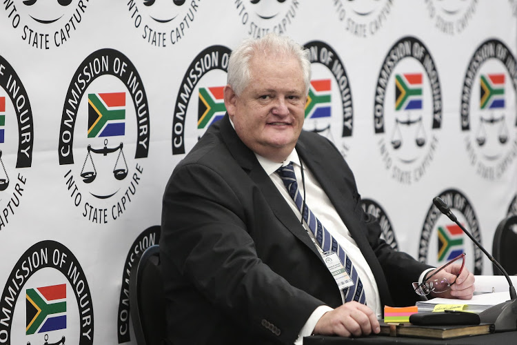 Former Bosasa COO Angelo Agrizzi at the Zondo commission, which is investigating allegations of state corruption.