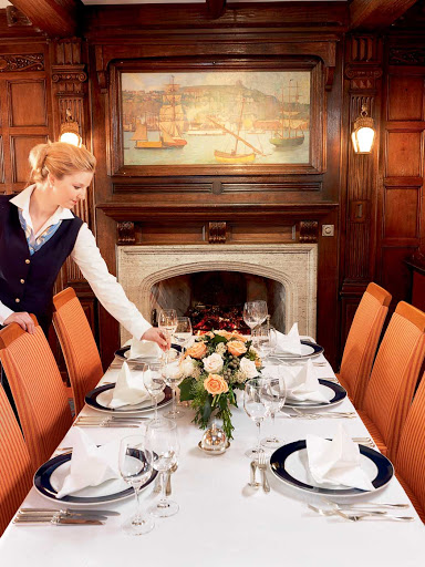 Lindblad-Expeditions-Sea-Cloud-Restaurant.jpg - Stop by Sea Cloud's restaurant on your Lindblad-National Geographic sailing for a savory dinner.