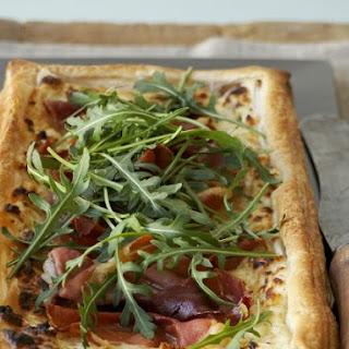 Ham and Soft Cheese Rectangular Tart