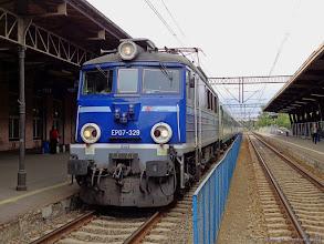 """Photo: EP07-329, TLK """"Bydgoszczanin"""" Warszawa Wschodnia - Bydgoszcz Główna {Toruń Główny; 2014-07-13}"""