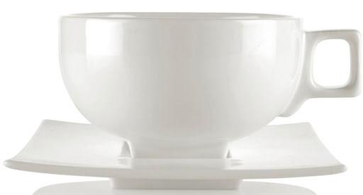 Vit tekopp i porslin 6-pack – Solstice tea cup - Tea Forté