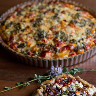 Mediterranean Gluten Free Tomato Tart with Whole Grain Gluten Free Crust