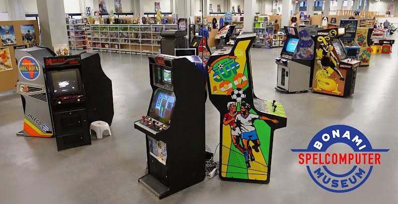 Retro arcade toernooi in het Bonami SpelComputer Museum