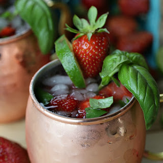 Strawberry Basil Moscow Mule.
