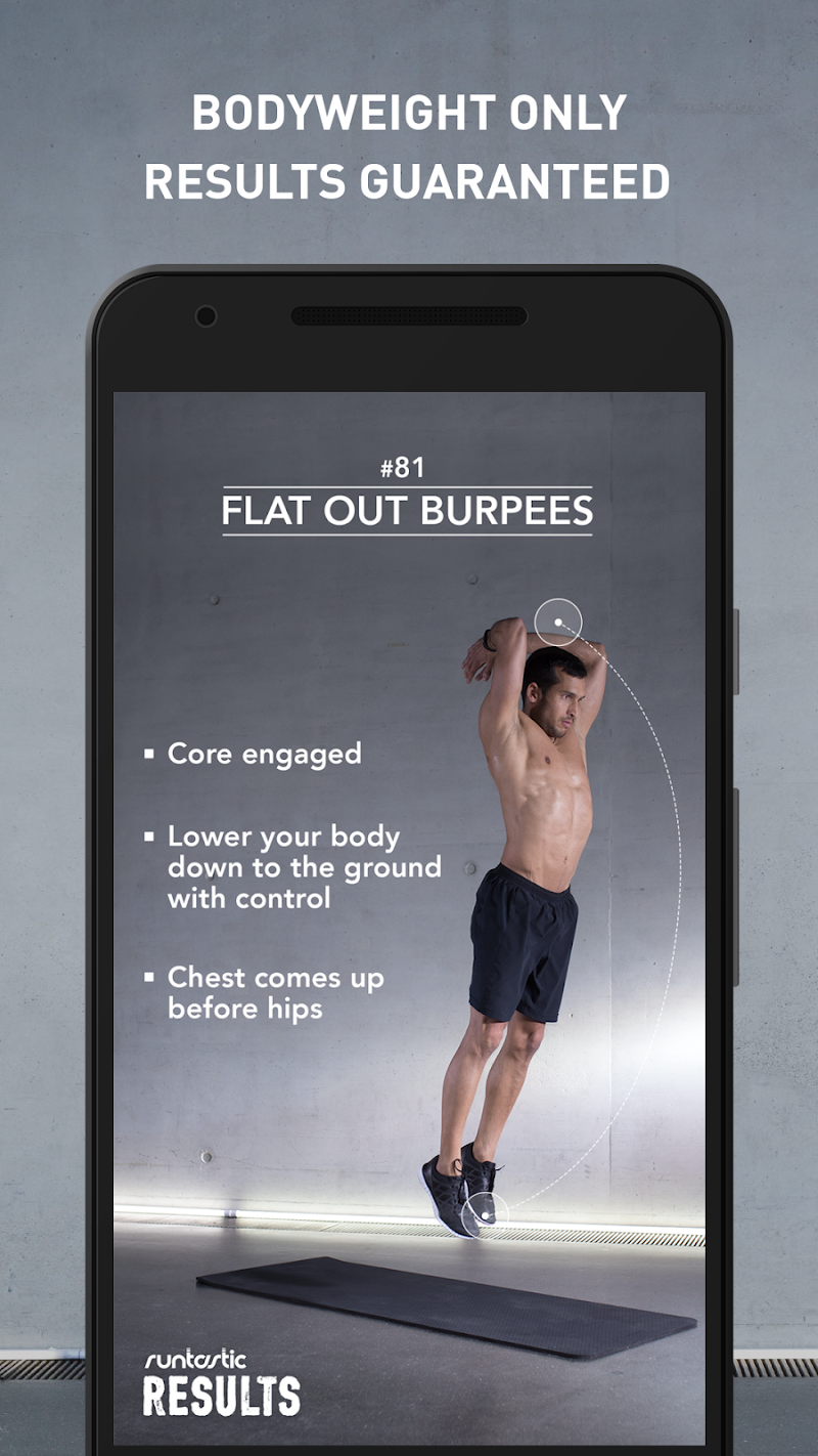 Runtastic Results Home Workouts & Personal Trainer Screenshot 1