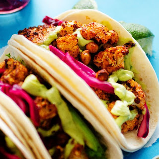 Roasted Cauliflower Street Tacos.