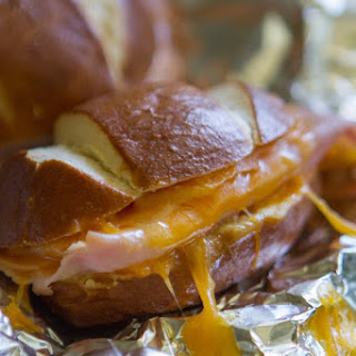 Ham & Cheese Honey Mustard Pretzel Melts.