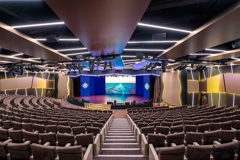 For musical and theatrical productions, head to Le Grand Theater on MSC Virtuosa.