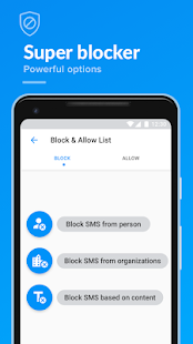 SMS app, Spam blocker, Block text, Backup restore