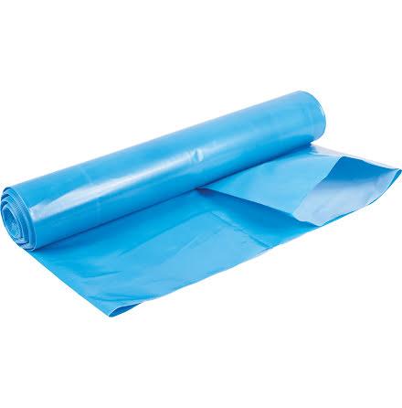 Sopsäck LLD 240L blå/vit 75my