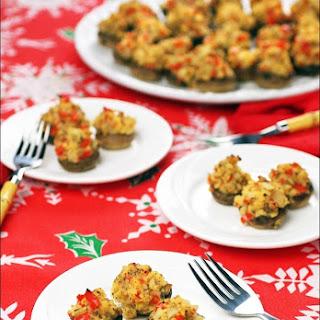 Gluten Free Crab Stuffed Mushrooms Appetizers
