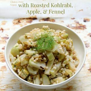Warm Sorghum Salad with Kohlrabi, Apple, & Fennel
