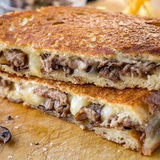 Steak and Mushroom Grilled Cheese.