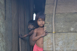 Photo: Los niños se asoman