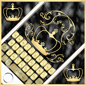 Black Gold Marble Keyboard Theme
