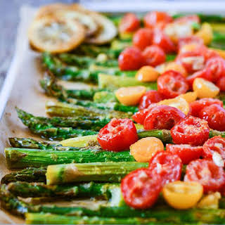 Roasted Asparagus and Tomatoes.