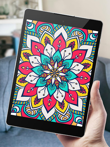 Mandalas Coloring Book For Adults Adult Color App Screenshot 9
