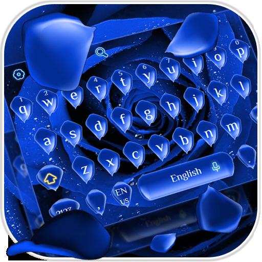Blue Rose Petal Keyboard