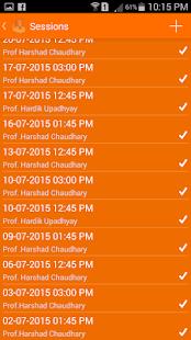 Moodle Attendance - náhled