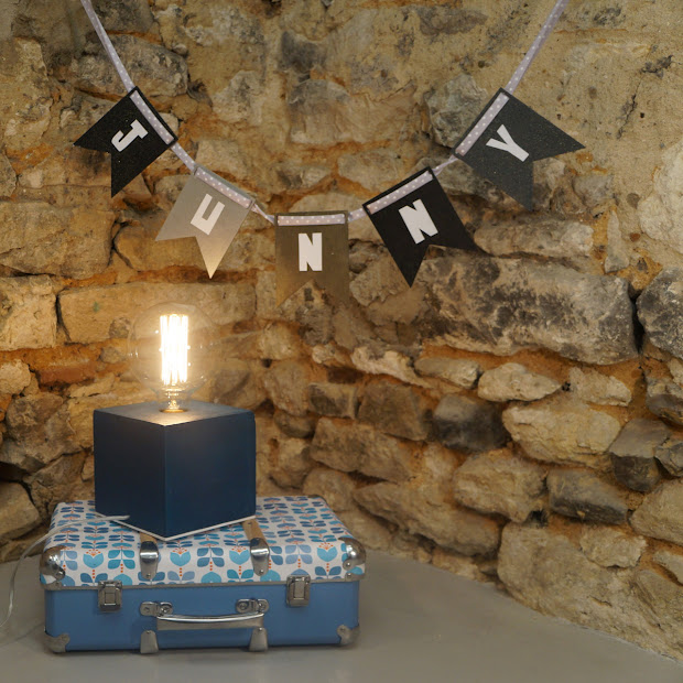 lampe cube béton