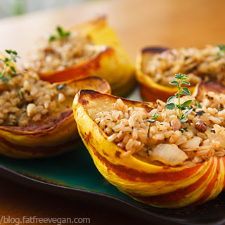 Sweet Dumpling Squash Stuffed with Lemon-Herb Rice