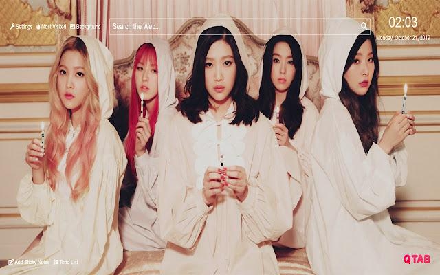 Red Velvet Wallpaper HD New Tab Theme