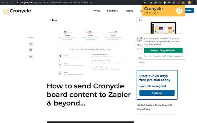 Content Clipper by Cronycle