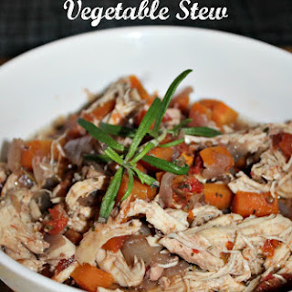 Slow Cooked Chicken and Vegetable Stew.