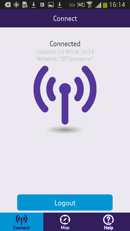 BT One Mobile secure access- screenshot