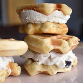 Vegan Waffle Ice Cream Sandwich